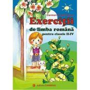 Exercitii de limba romana pentru clasele II-IV (Carmen Iordachescu)