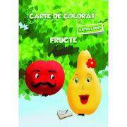 Carte de colorat cu abtibilduri. Fructe
