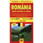 Romania. Harta turistica si rutiera (Huber Kartographie)