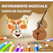 Carte de colorat. Instrumente Muzicale - Adina Grigore