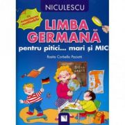 Limba germana pentru pitici... mari si MICI (cu autocolante reutilizabile)