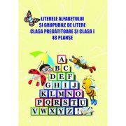 Literele alfabetului si grupurile de litere - clasa pregatitoare și clasa I. 48 planșe