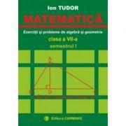 MATEMATICA. Clasa a VII-a, Semestrul I. Exercitii si probleme de algebra si geometrie - Ion Tudor