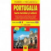 Portugalia. Harta turistica si rutiera (Huber Kartographie)