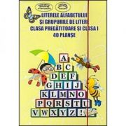 Literele Alfabetului si grupurile de litere- Clasa pregatitoare si clasa I - 40 de planse