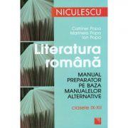 Literatura romana. Manual preparator pentru clasele IX-XII - Catrinel Popa