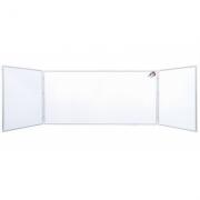 Tabla scolara triptica alba ( metalo-ceramica magnetica ) 1500x1200x3000mm TSTAP300