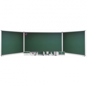 Tabla scolara triptica verde ( metalo-ceramica magnetica ) 1500x1200x3000mm TSTVE300