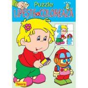 Puzzle. Lipeste si coloreaza 2