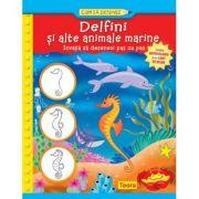 Delfini si alte animale marine. Cum sa desenez