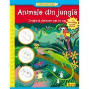 Cum sa desenez. Animale din jungla
