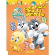 Coloreaza si invata numerele. (Baby Looney Tunes)