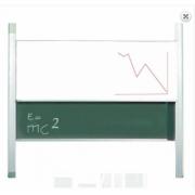 Tabla scolara culisanta pe verticala verde TSC2VP200