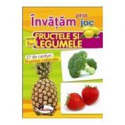 Invatam prin joc fructele si legumele +3ani - Carti de joc educative