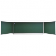 Tabla scolara triptica verde, metalo-ceramica superioara 2000x1200x4000mm (TSTVE400)