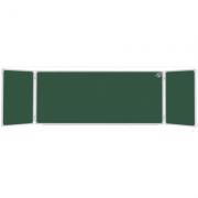 Tabla scolara triptica verde 2400x1200x4800mm ( metalo-ceramica ) TSTVP480
