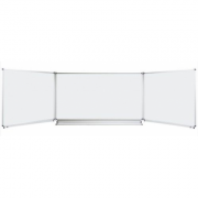 Tabla scolara triptica alba 2000x1200/4000 ( metalo-ceramica magnetica ) TSTAE400