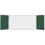 Tabla scolara triptica combinata verde alb verde 2000x1200/4000 mm (TSTAVE400)