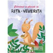 Coloreaza si ghiceste cu Rita Veverita pentru 3 ani (plus)