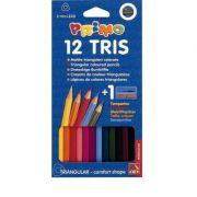 Creioane colorate Morocolor cu ascutitoare, l=18cm, 12 culori/cutie (MC15531)