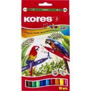 Markere pentru copii KORELLOS cu 2 capete, 10 culori pe cutie (KS29021)