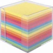 Suport pentru cub hartie, transparent, cu 500file albe, 85X85 mm (FL6952)