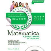 Bacalaureat 2017. Matematica M_STIINTELE_NATURII, M_TEHNOLOGIC. 78 de teste M. E. N. C. S. (Zanoschi Adrian ) - Ed. Paralela 45