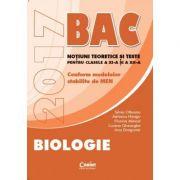 Biologie Bacalaureat 2017. Notiuni teoretice si teste pentru clasele a XI-a si a XII-a ( S. Olteanu )
