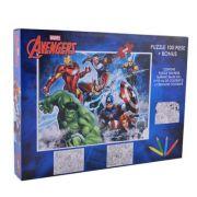 Avengers - Puzzle 100 piese+ 3 foi A4 de colorat si 4 creioane colorate (AV-XP01)