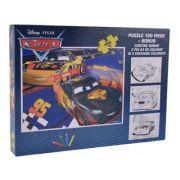 Cars - Puzzle 100 piese + 3 foi A4 de colorat si 4 creioane colorate (CS-XP01)
