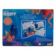 Dory - Puzzle 3 in 1 + 3 foi A4 de colorat si 4 creioane colorate (DO-XP04)