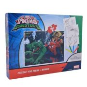 Spider-Man - Puzzle 100 piese + + 3 foi A4 de colorat si 4 creioane colorate (SM-XP01)