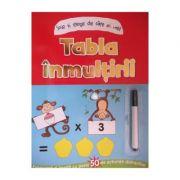 Tabla inmultirii - Scrie si sterge de cate ori vrei! (+7 ani)