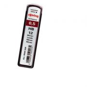 Mine creion mecanic, Rotring, 0. 5 mm, 2B, lungime 60mm, 12buc/cutie (RO505506)