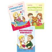 Set 3 carti pentru clasa pregatitoare. Comunicare in limba romana- Matematica si explorarea mediului si Dezvoltare personala
