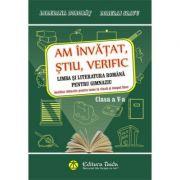 Am invatat, stiu, verific. Limba si literatura romana clasa a V-a (Auxiliar didactic pentru teme la clasa si timpul liber