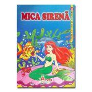 Mica Sirena - carte de colorat si de citit