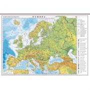 Europa. Harta fizica si politica 1000x700 mm cu sipci (GHEF100)
