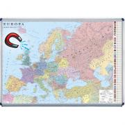 Europa. Harta politica magnetica 140 x 100 cm (DLFGHC2P14-INT-OM)