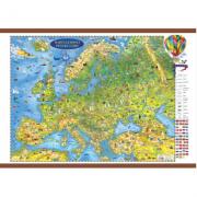 Europa harta pentru copii, cu sipci, 2000x1400mm (DLFGHECP200)
