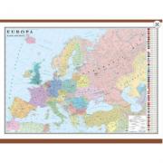 Europa. Harta politica 1600x1200 mm cu sipci (GHEP160)