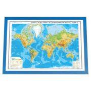 Lumea. Harta fizica si a substantelor minerale utile 3D 100x70 cm ( DLF3DGHLF100-M )