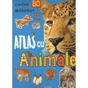 Atlas cu Animale (contine 80 de abtibilduri)