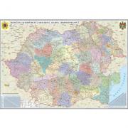 Romania si Republica Moldova. Harta administrativa 350x240 cm (DLFGHR5CDG)