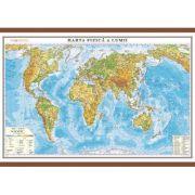 Harta fizica a lumii cu sipci 70x50 cm (DLFGHLF70)