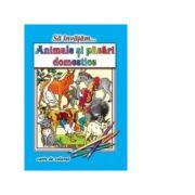 Sa invatam... Animale si pasari domestice. Carte de colorat, format A4