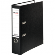 Biblioraft Falken plastifiat color, 80 mm, negru ( FA029801)