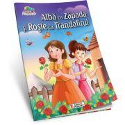 Alba ca Zapada si Rosie ca Trandafirul ( Carte de colorat A5 ilustrata )
