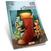 Elfii si Cizmarul-Carte de colorat A5 ilustrata