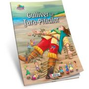 Gulliver in Tara Piticilor. Carte de colorat A5 ilustrata